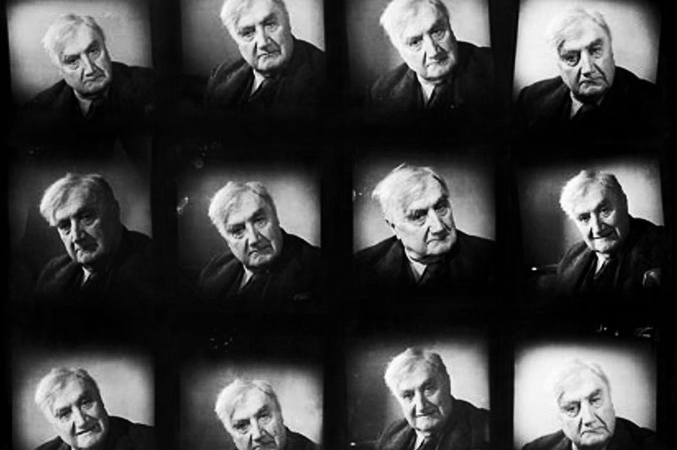 Contact sheet of photographs of Vaughan Williams